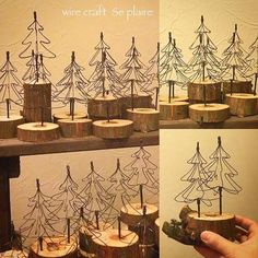 Christmas decoration with wire - .- Weihnachtsdeko mit Draht – Christmas decoration with wire – - Fun Diy Crafts, Wire Crafts, Metal Crafts, Diy Craft Projects, Holiday Crafts, Christmas Crafts, Christmas Decorations, Christmas Ornaments, Jellyfish Drawing