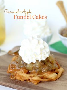 Caramel Apple Funnel Cakes  ☀CQ #sweets #treats #desserts