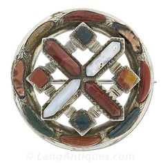 Scottish Agate Circle Pin