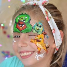 Angry Birds Face Paint Design by Natalia Kirillova Face Painting Tips, Mask Painting, Belly Painting, Face Painting Designs, Paint Designs, Bird Drawings, Easy Drawings, White Face Paint, Snake Drawing