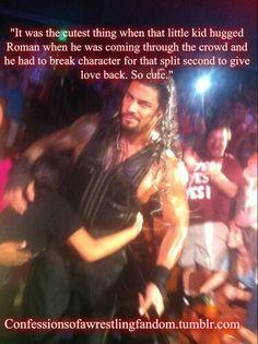 Thus was so freaking cute Roman Reigns Smile, Wwe Roman Reigns, Kids Hugging, Roman Regins, Wwe Superstar Roman Reigns, Best Wrestlers, Roman Warriors, Watch Wrestling, Deep Set Eyes