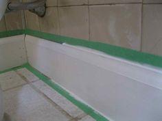 Bathroom Caulk Decor ~ http://lanewstalk.com/simpler-bathroom-caulk-technique/