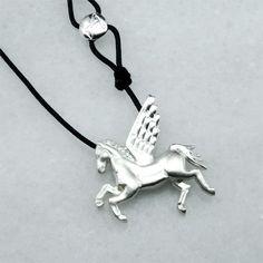 Pegasus - Silver Silver Pendant #pegasus #man #slver #pendant #gift #shop