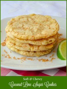 Chewy Coconut Lime Sugar Cookies - a fantastically flavourful and utterly addictive version of sugar cookies that are a sure fire hit wherever you might take them.