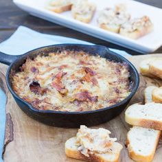 Hot Caramelized Onion Dip with Bacon and Gruyere — Spicy Southern Kitchen