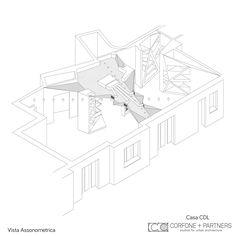 CORFONE+PARTNERS - Axonometric view - CDL HOUSE