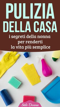 #casa #pulizia #stiledonna Desperate Housewives, Natural Cleaning Products, Beauty Routines, Getting Organized, Clean House, Housekeeping, Cleaning Hacks, Baking Soda, Houses