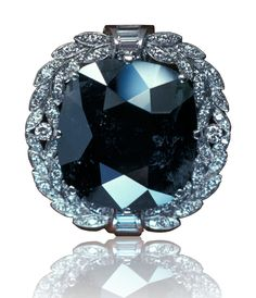 The 67.50 ct Black Orlov diamond is probably the most famous natural color black diamond. GIA (102314)