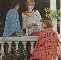 Vintage Crochet Patterns, Vintage Knitting, Knit Or Crochet, Crochet Shawl, Shawl Patterns, Knitting Patterns, Knitted Shawls, Double Knitting, Knitting Yarn