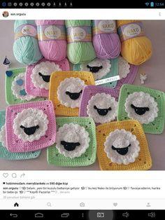 Easy Knitting Patterns, Crochet Blanket Patterns, Baby Patterns, Crochet Stitches, Knit Crochet, Baby Afghan Crochet, Manta Crochet, Crochet Blocks, Crochet Squares