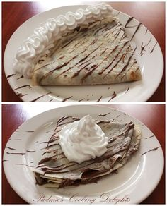 Padma's Cooking Delights:-Crepes with Nutella and Whipped Cream