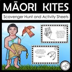 A scavenger hunt and activity sheets for learning about Māori kites (manu tukutuku) from long ago. All of the information used in this resource was sourced from books and the internet. The Scavenger Hunt: Place the cards around the room.