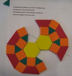 teaching symmetry with pattern blocks