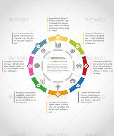 Circle Infographic Template #design Buy Now: http://graphicriver.net/item/circle-infographic-template/7733169?ref=ksioks