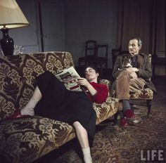 Portrait of painter Balthus (rear) and his niece Frederique Tison at the Chateau de Chassy. Photograph by Loomis Dean, France, Source: LIFE Photo Archive. Artists And Models, Modern Artists, Max Ernst, Rainer Fetting, Tate Gallery, Pierre Bonnard, Frames For Canvas Paintings, Affordable Wall Art, Life Photo