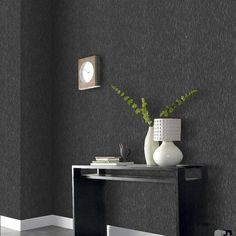 Heston Wallpaper available to buy online. A Grey Wallpaper Modern Wallpaper from Premier at best online price. Order today for quick delivery. Grey Wallpaper Modern, Grey Wallpaper Living Room, Charcoal Wallpaper, Plain Wallpaper, Contemporary Wallpaper, Dark Wallpaper, Home Wallpaper, Textured Wallpaper, Black Glitter Wallpapers