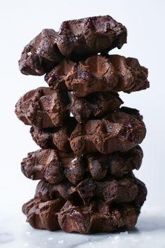 Made a stack of double chocolate mochi waffles for brunch! If you're a fan of mochi (or chocolate! Mochi Waffle Recipe, Mochi Recipe, Waffle Recipes, Fun Recipes, Asian Recipes, Vegetarian Recipes, Dessert Recipes, Double Chocolate Zucchini Muffins, Breakfast Waffles