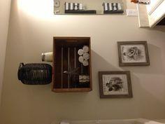 Crate bathroom storage
