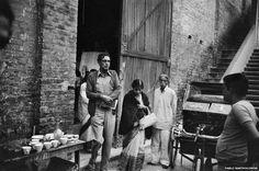 Bartholomew spent time on the sets of Satyajit Ray's film Shatranj Ke Khilari (The Chess Players). Here, the filmmaker and his wife are seen outside the studio. Ray, who won an Oscar for Lifetime Achievement, was one of the city's most famous residents and died in April 1992.