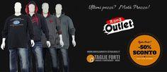Approfitta dei nuovi sconti settimanali per la zona #outlet! Per l'#autunno gli ultimi capi di abbigliamento a metà prezzo! Affrettati prima dell'esaurimento scorte! #tagliefortiuomo #abbigliamentogranditaglie