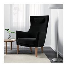 IKEA - STOCKHOLM, Armchair, Sandbacka black, , This chair is made from molded high resilience foam that provides comfort and…