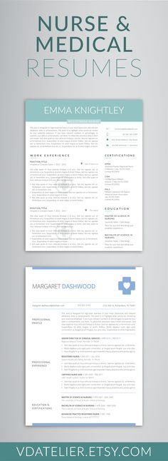 Medical Resume Word Template, Doctor\/Nurse Resume Template - resume template rn