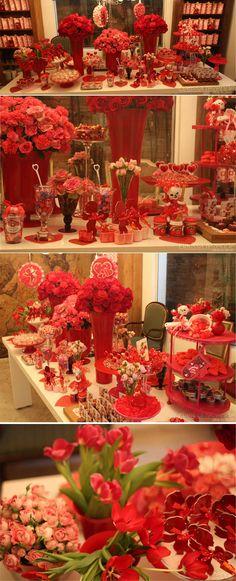 Chá de cozinha / Chá de cozinha vermelho / Ursinho / Cupido / Amor