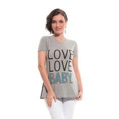 Camisa MC Dec. V Love Baby - Due Vita