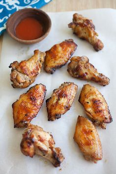 ~ Asian BBQ Wings ~  Ingredients: 2 lbs chicken wings mid section and drummettes -- 1 teaspoon honey -- 1 1/2 teaspoons salt -- 1/3 teaspoon five spice powder -- 1 tablespoon oyster sauce -- 1 clove garlic, peeled and chopped -- 1 teaspoon fresh grated ginger -- 1 teaspoon sesame oil -- 1 teaspoon soy sauce