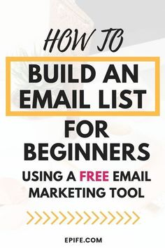 How To Build An Email List For Beginners & Grow It Everyday - Build an Email List - Ideas of Tips To Sell Your House Fast - Learn how to build an email list for beginners using a totally free email marketing tool. This post Best Email Marketing, Email Marketing Design, Email Marketing Campaign, Email Marketing Strategy, E-mail Marketing, Email Design, Business Marketing, Online Marketing, Digital Marketing