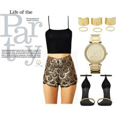 A fashion look from July 2014 featuring rayon tops, zipper shorts and heeled sandals. Browse and shop related looks. Mario Testino, Get The Look, Short Dresses, Couture, Shoe Bag, Party, Polyvore, Stuff To Buy, Life