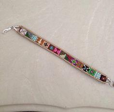 Items similar to Bead Loom Friendship bracelet Seed Beads Nautical Flag on Etsy Loom Bracelet Patterns, Seed Bead Patterns, Bead Loom Bracelets, Jewellery Bracelets, Macrame Bracelets, Stitch Patterns, Seed Bead Jewelry, Seed Beads, Beaded Jewelry