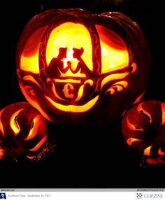 Pumpkin carving is an essential part of Halloween. A pumpkin like these though is truly are work of art. Disney Pumpkin Carving, Pumkin Carving, Pumpkin Carving Patterns, Pumpkin Art, Pumpkin Ideas, Pumpkin Designs, Pumpkin Crafts, Pumpkin Images, Fall Crafts