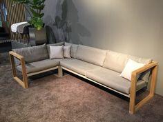 FueraDentro CIMA LOUNGE designer garden sofa, in premium quality teak, with Cozy cushions in cappuccino