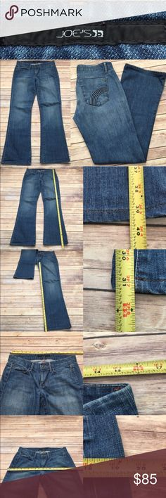 🎍Sz 29 Joe's Jeans Rocker Fit Flare Denim Jeans Measurements are in photos. Normal wash wear, no flaws. D2  I do not comment to my buyers after purchases, due to their privacy. If you would like any reassurance after your purchase that I did receive your order, please feel free to comment on the listing and I will promptly respond. I ship everyday and I always package safely. Thanks! Joe's Jeans Jeans Flare & Wide Leg