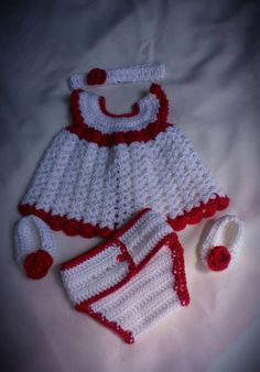 Check out this item in my Etsy shop https://www.etsy.com/listing/202572111/0-3-month-crochet-baby-girl-set