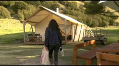 "A snippet from Country Calendar 2013, Episode 21, Rugged Coast - Featuring Canopy Camping's 'Glamping' from Kawakawa Station, Wairarapa. ""Wild scenery gives ..."