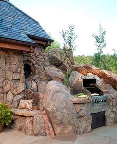 Stone Cottage - rustic - patio - denver - TKP Architects pc