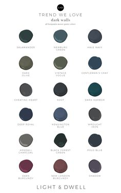 Light and Dwell favorite Benjamin Moore Dark Paint Colors for Interior Walls Dark Paint Colors, Beige Paint, Paint Colors For Home, Cowboy Chic, Room Colors, Wall Colors, House Colors, Ikea Curtains, Bohemian Living