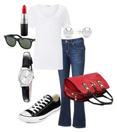 """""""Untitled #2"""" by shinyrebel on Polyvore featuring Apt. 9, Ray-Ban, Converse, Miss Selfridge, Timex, Pori, Relaxfeel and MAC Cosmetics"""