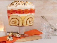 Apricot, Jelly & Custard Trifle