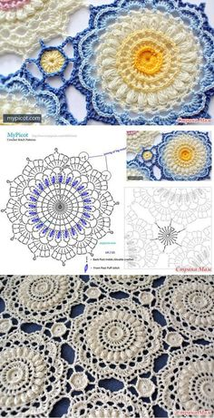 crochet granny squares The Ultimate Granny Square Diagrams Collection ⋆ Crochet Kingdom - The Ultimate Granny Square Diagrams Collection.The Ultimate Granny Square Diagrams Collection ⋆ Crochet Kingdom - SalvabraniHow to Crochet Flower, Make a Gr Motif Mandala Crochet, Crochet Flower Patterns, Crochet Squares, Crochet Flowers, Knitting Patterns, Crochet Sunflower, Dress Patterns, Stitch Patterns, Crochet Diagram