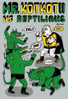 Mr. Kotkot vs Reptilians on Behance