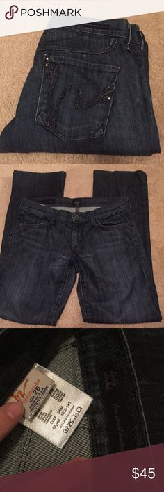 Citizens Of Humanity dark wash jeans Gorgeous pair of dark wash Citizens Of Humanity jeans! Size 28, low waist bootcut. Smoke free home. Citizens of Humanity Jeans Boot Cut