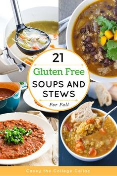 Nothing says fall comfort food like some delicious gluten free soup recipes! Whether you're craving paleo chicken soup, vegan vegetable soup or just some scrumptious healthy soup recipes, this gluten free soup roundup has the perfect fall dinner recipe for you.