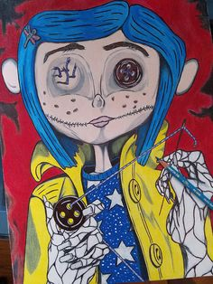 52 Ideas Drawing For Kids Ideas Artworks Coraline Drawing, Coraline Movie, Coraline Tattoo, Tim Burton Kunst, Tim Burton Art, Cartoon Kunst, Cartoon Art, Drawing For Kids, Art For Kids