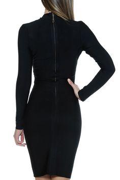 Femme 323 Black Bandage Dress - ReveBoutique