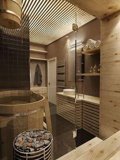 Masculine Apartment Design Idea With Vintage Interior Concept Spa Bathroom Design, Spa Bathroom Decor, Bathroom Styling, Master Bathroom, Wooden Bathroom, Industrial Bathroom, Spa Interior, Bathroom Interior, Interior Design