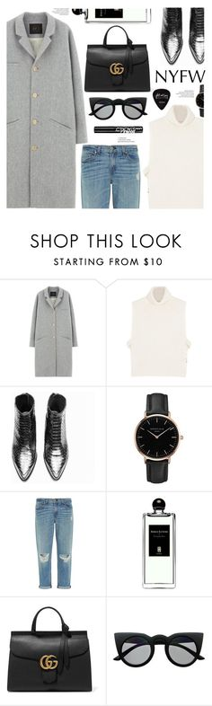 """#NYFW"" by chocolate-addicted-angel ❤ liked on Polyvore featuring Des Petits Hauts, Étoile Isabel Marant, Topshop, rag & bone, Serge Lutens, Gucci, Retrò, NYX, NYFW and fashionWeek"