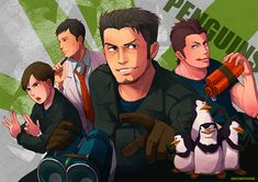 The Penguins of Madagascar, anime style- this is literally the greatest thing I've seen.